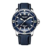 Reef Tiger Mens Dive Watches Blue Dial Automatic Watches Super Luminous Watches with Date RGA3035 (RGA3035-YLL)