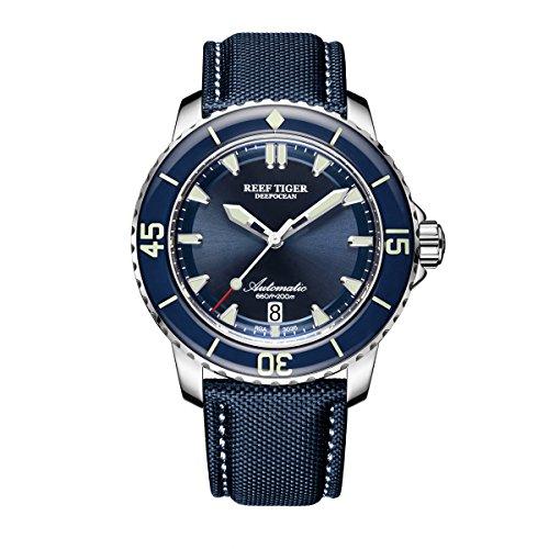 REEF TIGER Reloj Analógico Automático para Hombre con Correa en Nylon RGA3035-YLL
