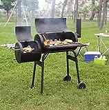 YaSaShe Outdoor Camping Garden BBQ Carbone Barbecue Grill Picnic BBQ Grill Giardino Americano Fornello Fumatore Casa Affumicata Stufa