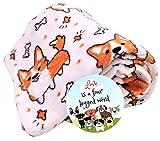 DBD Home Fun Print Soft Cozy Lightweight 50 x 60 Fleece Throw Blanket with Fun Magnet! (Cute Corgi)