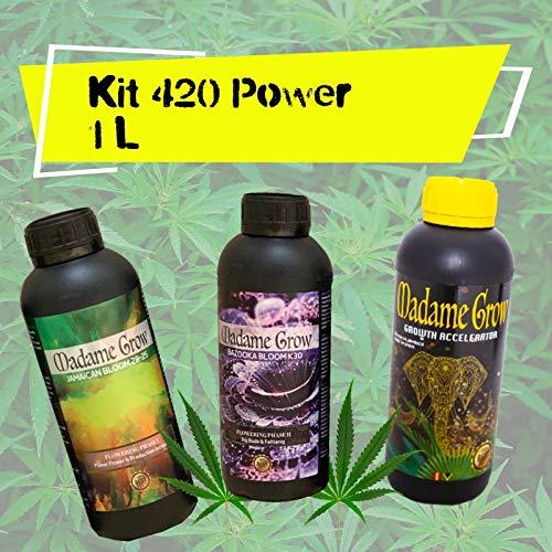 MADAME GROW / Kit 420 Power/Tripack / 3 x 1 L Dünger für Marihuana/Kraft für Ihre Pflanzen