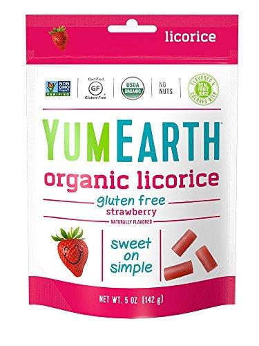 YumEarth Organic Gluten Free Strawberry Licorice 5 Ounce 6 pack