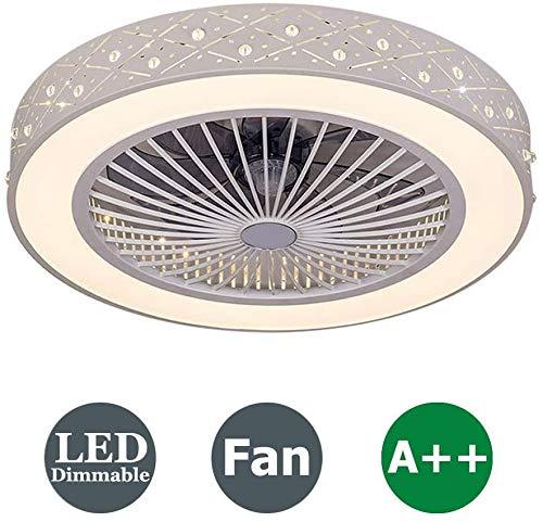 Ventilador de techo con LED lámpara,luz de techo regulable con control remoto Ventilador ajustable Ventilador de techo silencioso,36W Lámpara de techo para sala de estar del dormitorio.