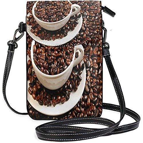 Archiba Handytasche Mini Handytasche Kaffeebohne Bilder für Frauen