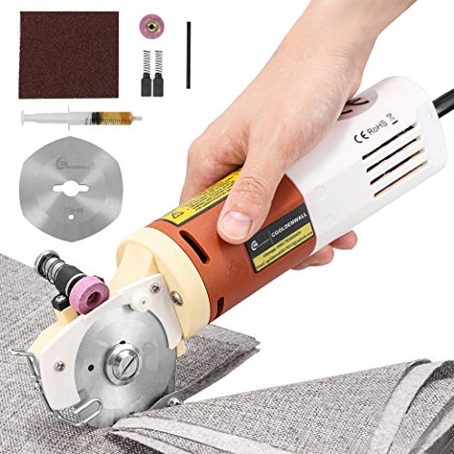 CGOLDENWALL YJ-65 Portable Electric Cloth Scissors Round Knife Cutting Machine Fabric Cutter Shears Blade Diameter 65MM 110V