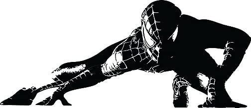 ChicWalls Removable Custom Spiderman Venom Marvel Superhero Silhouette Wall Art Decor Decal Vinyl Sticker Kids Room 50 X 22 Black