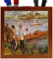 Rikki Knight Edouard Manet Art Rameurs a Chatou Design 5-Inch Wooden Tile Pen Holder (RK-PH3577) [並行輸入品]