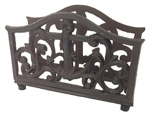 Ships Anchor Filigree Napkin Holder Cast Iron Kitchen or Dining Room Decor