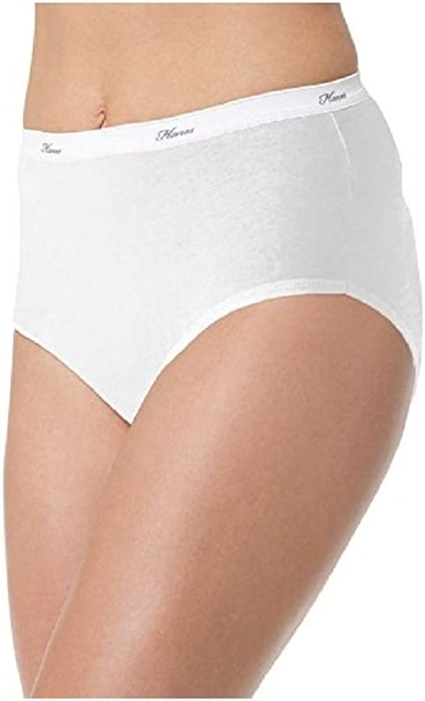 Hanes Women's 6 Pack Core Branded goods Max 69% OFF Cotton Panty White 11 Brief