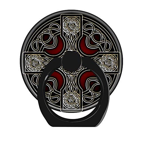 360 Rotation Cell Phone Ring Holder Stand,Finger Ring Grip with Car Mount Hooks for Smartphones and Tablets-Celtic Cross