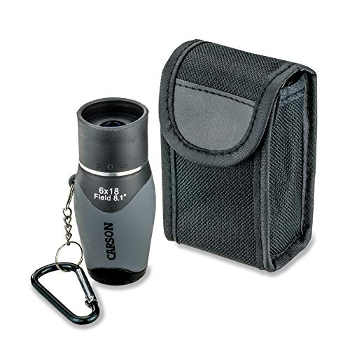 Cheapest Price! Carson MiniMight 6x18mm Pocket Monocular with Carabiner Clip (MM-618)