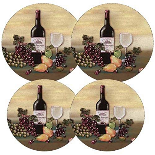 Reston Lloyd Electric Stove Burner Covers, Set of 4, Wine and Vines All-Over Pattern