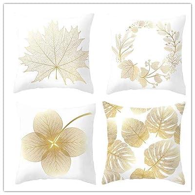 Throw Pillow Covers Beautiful Dream Boho Gold Black Pillowcases Polyester 16 x 16 Inch Square With Hidden Zipper Home Sofa Cushion Decorative Pillowcase