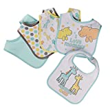 Buttons and Stitches 5 Piece Bibs, Mommy & Me