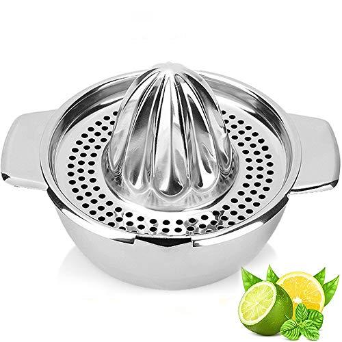 Modrad Presse Agrume Manuel Presse Orange Inox Presse Citron Orange Juicer Lavable au Lave-Vaisselle pour Oranges Citrons Limes