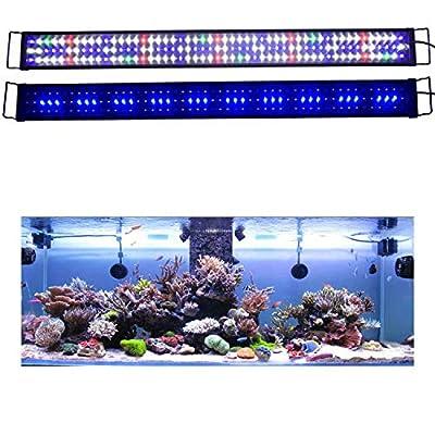 KZKR Upgraded Aquarium Light LED Full Spectrum 60-72 inch Hood Lamp for Freshwater Marine Plant 150-180 cm Multi-Color Decorations Light