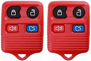 2 KeylessOption Red Replacement 4 Button Keyless Entry Remote Control Key Fob