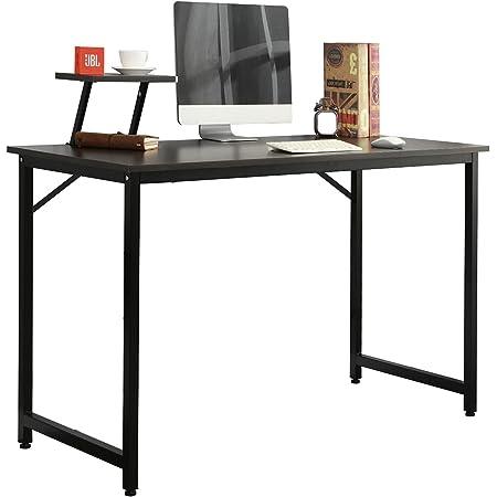 sogesfurniture Bureau d'ordinateur Moderne Table Informatique Simple Design, Table de Bureau Table de Travail en Bois et Acier, 100x50x75cm (LxPxH), WK-JK100-BK-BH