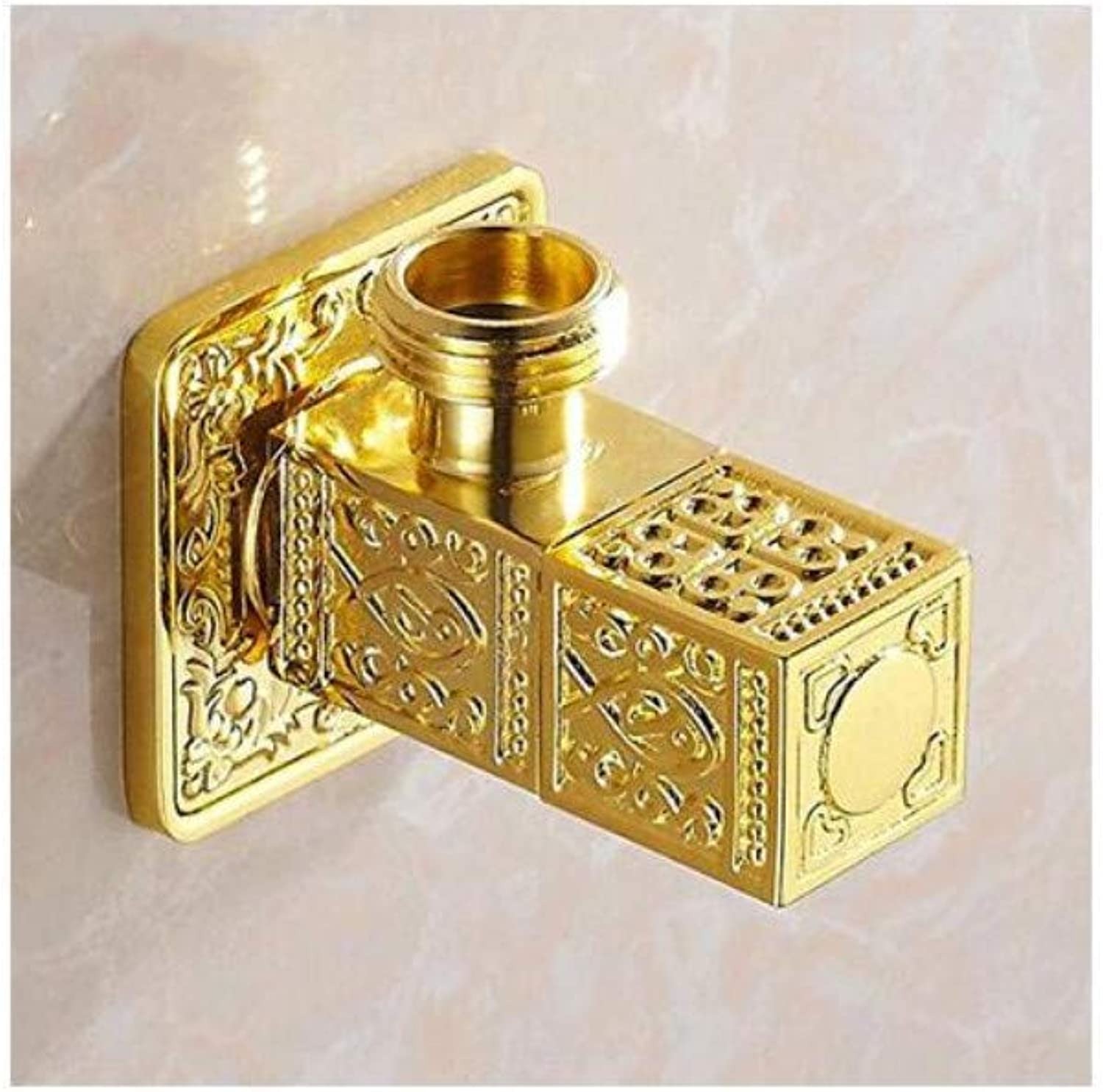 Taps Kitchen Sinkpressure Angle Valve Faucet Toilet Water Heater Octagonal Valve Hot and Cold Angle Valve Heat Sink Constant Temperature
