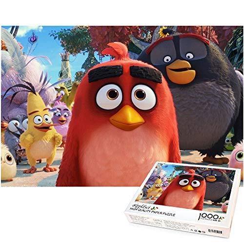 1000 Piezas Rompecabezas Angry Birds DIY Juego de Rompecabezas Juego Educativo desafío Juguete para niños y Adultos 70x50cm-angry Birds