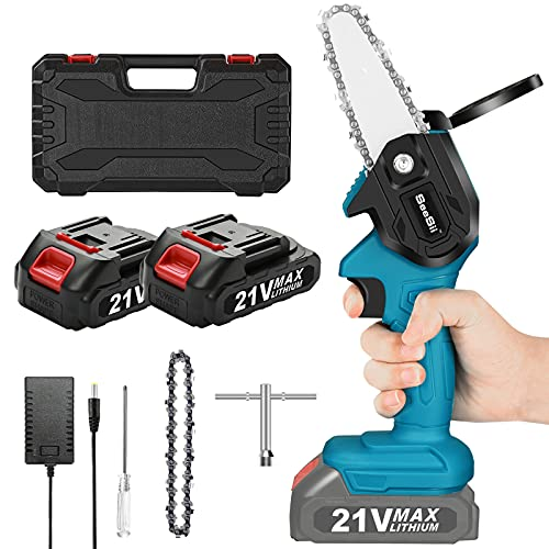 Mini Electric Chainsaw Cordless , Seesii Portable Electric Pruning Saw,...