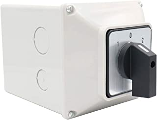 Baomain Universal Rotary Changeover Switch SZW26-63/D303.3 with Master Switch Exterior Box LW28-63/4 660V 63A 3 Position 3 Phase