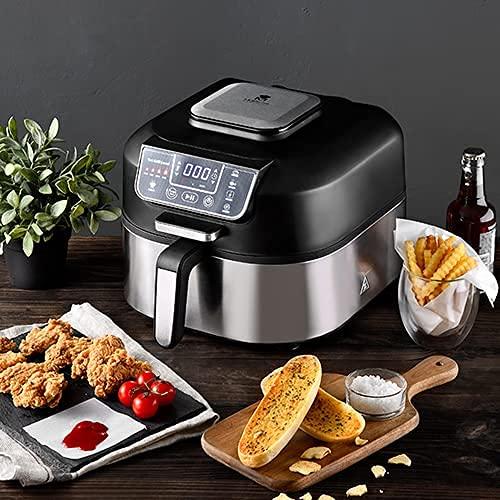 MasterPro One Touch - Barbecue senza fumo da 6,3 l, friggitrice, manico, cottura senza olio, disidratata, cucina, Air Fryer con schermo LED touch, timer, senza BPA e PFOA, 1760 W