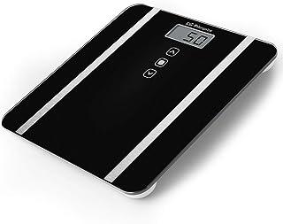 Orbegozo PB 2217 - Báscula de baño digital, memoria hasta 10 usuarios, táctil, indicador de sobrecarga y batería baja, pantalla LCD, 180 kg capacidad max.