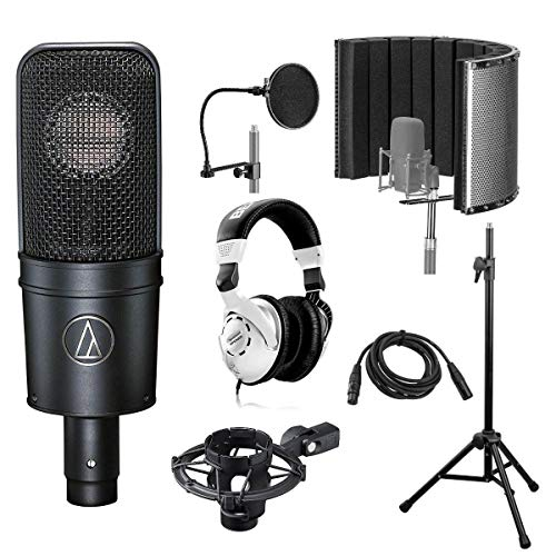 Audio-Technica AT4040 Side-Address Cardioid Condenser Microphone with Vocal Recording Setup Kit