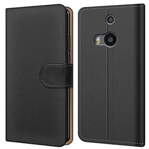 """Conie Hülle für HTC One M8 Tasche Bookstyle Schwarz, PU Leder Hülle Schwarz, Handyhülle One M8 Flip Case Wallet, Booklet Cover Etui, für HTC One M8 (5.0"""")"""