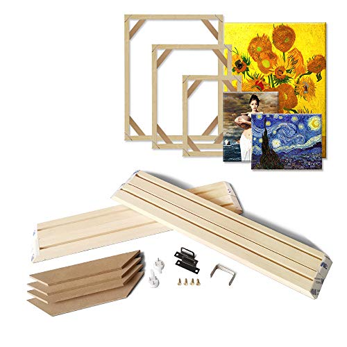 wooden back stretchers DIY Wood Stretcher Bars for Canvas Stretching Wall Art Soild Nature Wooden Picture Poster Frame 15.7x19.7inch