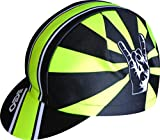 EKEKO SPORT Cappellino racecut Poliestere, Disegno Lagos, per Il Ciclismo, la Corsa, Il Trailrunning e Il Triathlon. Giallo/Nero
