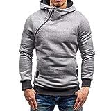 Binggong Herren Shirt, Sudadera con capucha para hombre otoño e invierno, estilo retro, informal, con cremallera, de manga larga, con capucha