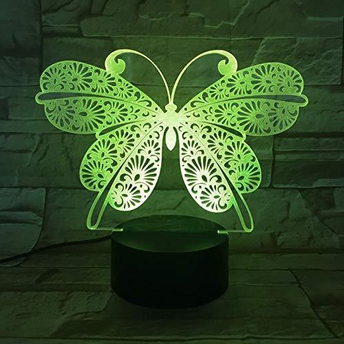 Lámpara Anime 3d,LED Óptico Lámpara de mesa Holograma Luz de noche 16 colores cambian control remoto,Regalos creativos para niños niñas,Lámpara 3d corona malvada Inori Yuzuriha lámpara decorativa