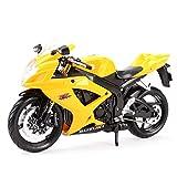 Maquetas de Coches 1:12 Suzuki Gsx-r600 Vehículos Fundidos A Presión Coleccionables Pasatiempos Modelo De Motocicleta Juguetes
