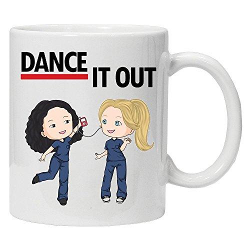 Greys Anatomy 'Dance it off' - Fantaisie Mug 311,8 gram en céramique Café Thé Mug – Idéal Saint Valentin/Pâques/été/d'anniversaire/de Noël/cadeau d'anniversaire
