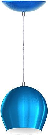 Pendente Bola (Azul Metálico/Branco)