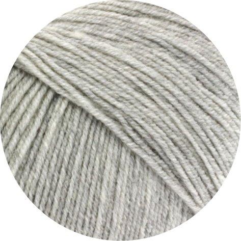 Lana Grossa Cool Wool Baby 206 Hellgrau meliert