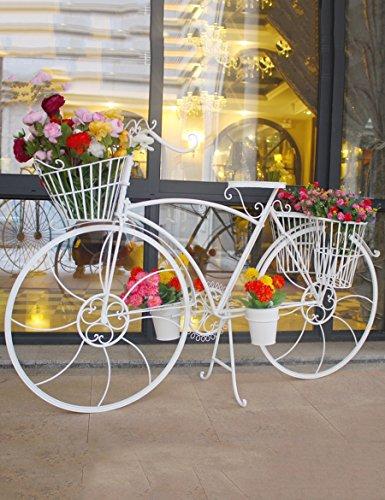 Bloemenrekken multifunctionele Iron Multi-verdiepingen Vloer Bike Creatieve Wedding Props Raamdecoratie Decoratie voor binnen en buiten