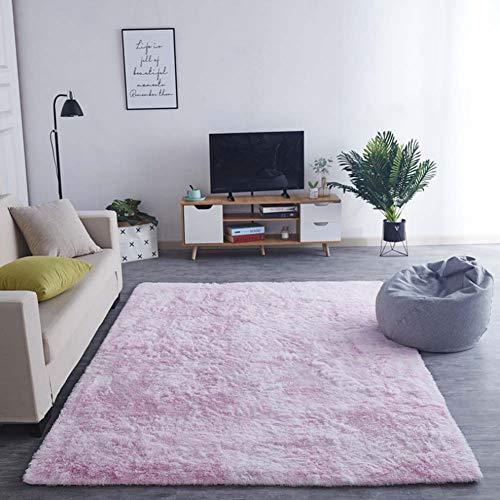 Zmymzm Faux lamsvel tapijt pluizig zacht imitatiewol tapijt geschikt voor woonkamer slaapkamer badkamer sofa kussen, D,140 * 200 cm