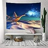 JXGG Lámpara Tapiz Bosque Seta Arte Tapiz Colgante de Pared Sala de Estar Dormitorio hogar Dormitorio decoración 130x150 cm se Puede Personalizar