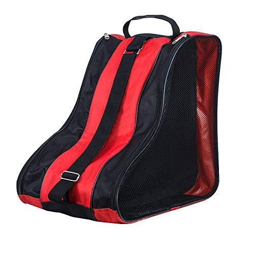 SENDILI Bolsa para Patines - Mochila Patines en Linea Patines de Hielo Ice Skate Bag Unisex Adulto Niña Niño Rojo