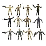 YEIBOBO ! Special Forces 4inch Mini Military Action Figure with Weapons - 12pcs Packed