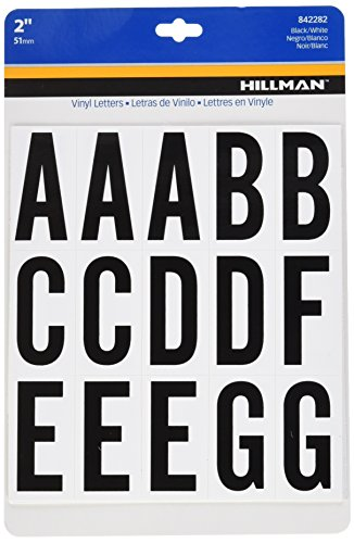 The Hillman Group 842282 2-Inch Letters Kit, Black/White by The Hillman Group (English Manual)