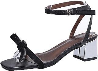 68043d23 WINWINTOM 2018 Moda Verano Sandalias y Chanclas, Nuevo Dama Verano Sandalias  Abierto Toe Mujer Grueso