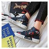 XUENING Zapatos de Mujer Zapatos de Animado Akatsuki Itachi Zapatos Casuales Sasuke Zapatos de Lona hashirama Zapatillas de Zapatos de Kakashi Cosplay Mujeres (Color : Itachi, Talla : 38)