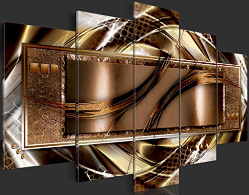"murando Canvas Wall Art 200x100 cm/ 78.8""x 39.4"" Non-Woven Canvas Prints Image Framed Artwork Painting Picture Photo Home Decoration 5 Pieces Abstract Brown Gold White Purple a-A-0025-b-n steampunk buy now online"