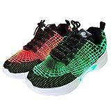 HotDingding Fiber Optic LED Shoes for Women...