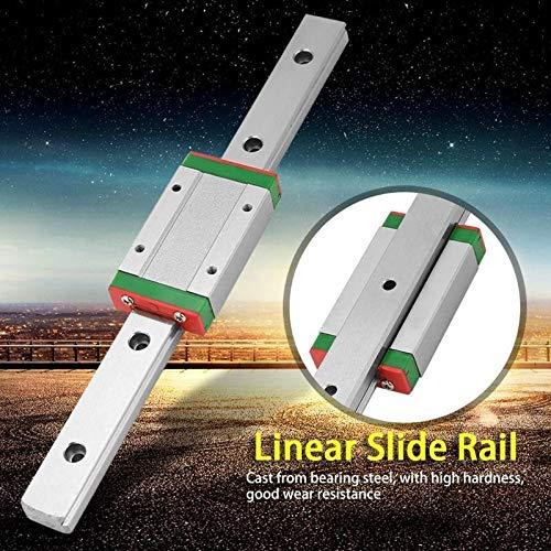 NO LOGO 1set LML15H Linear Gleitführungsleiste Bewegungsschiene 200mm Länge mit 1Pcs Verlängerung Sliding Block Linearschlitten