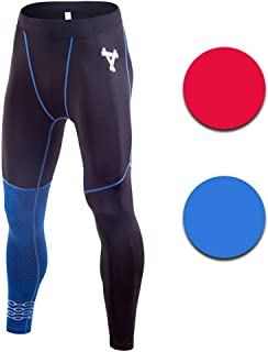 LUKEEXIN Men's Compression Leggings Baselayer Cool Dry Sports Tights Leggings